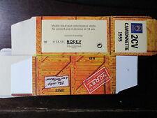 BOITE VIDE NOREV  CITROEN 2CV CAMIONNETTE 1955 EMPTY BOX CAJA VACCIA