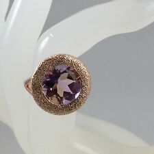 Exquisite - Anahi Ametrine 10.17 cts Rose Gold Plated 925 Sterling Silver Ring