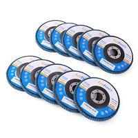 "10 Pack 4.5"" x 7//8/"" Josili 60 Grit Zirconia Flap Disc Grinding Wheels T29"