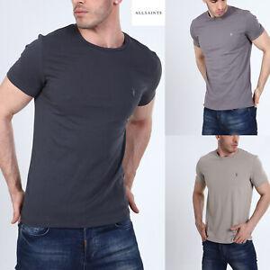 All Saints Mens Designer Soft Cotton AllSaints Tonic SS Crew Neck T Shirt Tee