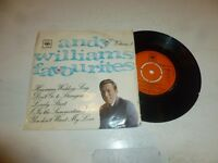 "ANDY WILLIAMS - Favourites Vol. 1 EP - 1965 UK 4-track 7"" vinyl EP"