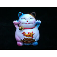 statuette chat Fengshui Maneki neko porte bonheur
