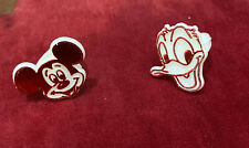 Vintage Plastic Mickey Mouse & Donald Duck Kids Rings