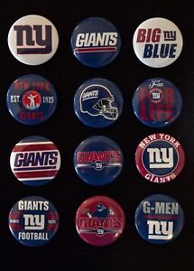 New York Giants - 1 1/2 Inch Buttons - Set of 12