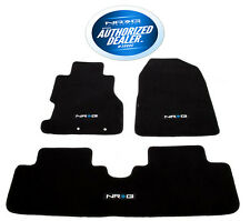 Honda Civic Si 06-11 4DR Sedan Floor Mats Set Black Carpet with NRG Logo FMR-152