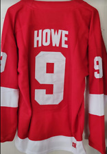 Nwt Gordie Howe Detroit Red wings Captain Throwback Red Jersey - Sweater #9