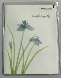 Papyrus Sympathy card- Beautiful Irises - No words to express sorry in our heart