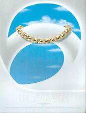 ▬► PUBLICITE ADVERTISING AD Bulgari bijoux 1991