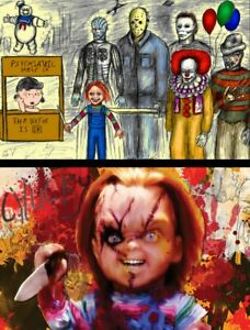 Peanuts Chucky Child's Play Lot of (2) High Quality Posters Jason Vorhees IT