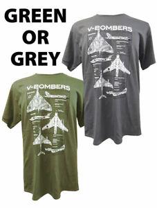 V - Bomber's ( Vulcan,Victor,Valiant ) Military T Shirt With Blueprint Design.