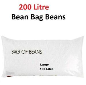 200L Bean Bag Balls Beans Refill Large Filling Stuffing Beanbags 2 x 100L Size