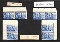 1963 - 5d BLUE - 150th ANNIV. of CROSSING of BLUE MOUNTAINS - Doctor Blade Flaw.