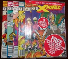 X-Force 1, 1, 4, 5, 7, 8 - 3rd & 4th Deadpool app. 1st Domino! Newsstand edition
