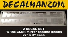 Set of 2 Jeep WRANGLER Mirror Chrome vinyl fender decals JK JKU LJ TJ