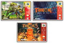 TUROK TRILOGY NINTENDO 64 3 FRIDGE MAGNET IMANES NEVERA