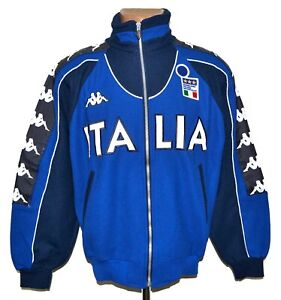 Italien 1999/2000 Training Fußball Full Trainingsanzug Jacke+Hose Kappa Size S