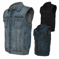 URBAN CLASSICS Gilet Giacca Giubbotto jeans uomo Denim Vest Over sizes