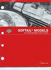 Harley-Davidson 2013 Softail Models Parts Catalog P/N 99455-13A