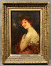 19th Century Italian Oil Painting Giovanni Boldini 1842-1931 of Woman Portrait