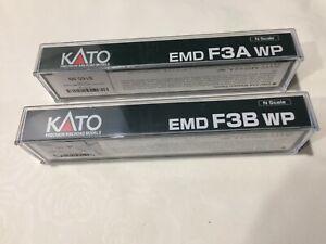 n gauge Kato EMD F3A WP and F3B WP set Western Pacific diesel locomotives