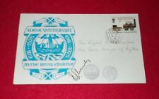 SIGNED COVER 400TH ANNIVERSARY HYTHE ROYAL CHARTER 13.8.75