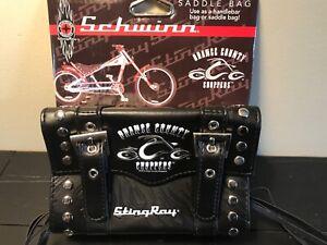 "Schwinn StingRay Handlebar Saddle Bag ""Orange County Choppers"" Bicycle Accessory"