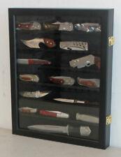 Knife Shadow Box / Display Case with glass door, Hangs Display Cabinet