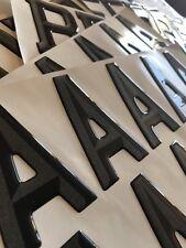 3d Font Black Gel Domed Resin Number Plates Letters Kit Set Of 700