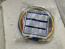 Manifold Gauge Set Hvac Ac Refrigeration Charging Hoses36 R12 R134a R22 Ampmore
