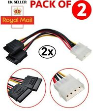 New 4Pin IDE Molex to 2 Serial ATA SATA Y Splitter Hard Drive Power Supply Cable