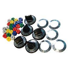 Universal Stove / Oven Black Knob Kit: 5 Knobs, 25 Inserts