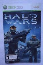 Xbox 360 Live Halo Wars Instruction Booklet Insert Only Microsoft (NO GAME)