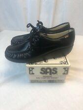 SAS Bounce OXFORDS Made in USA Ladies 9 1/2 N Black Lace Up SHOES New in Box