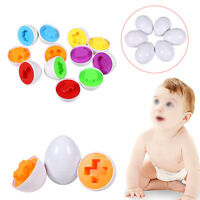 6 Pairs Baby Kids Simulation Eggs Puzzle Toy Shape Cognition Matching Education