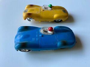 scalextric 2 jaguar    jaune et bleue