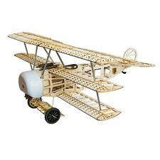 Fokker Dr.I 770mm Wingspan Balsa Wood Triplane Warbird RC Airplane KIT Free Ship