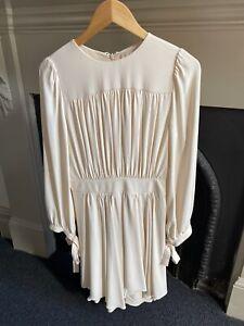 CHLOE Designer Cream draped Women's Draped Dress - Worn Once - Size small