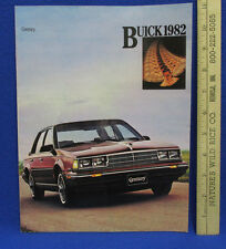 Vintage 1982 Buick Century Car Dealership Brochure Information Booklet Sales