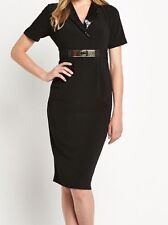 Polyester Collared Wiggle, Pencil Formal Dresses for Women