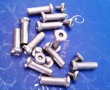 Stainless Steel Rivet Knife Handle Screw DIY Knife Making Tool Rivet Nut - 4 Pcs