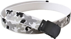 City Camouflage Military Cotton Web Belt With Black Buckle