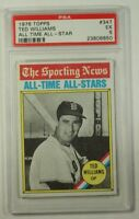 1976 Topps Ted Williams All Time All-Star Baseball Card #347 PSA EX-5 CK