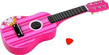 Lelin Wooden Striped Pink Princess Guitar Children Girls Instrument