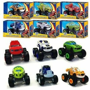 6x Blaze and the Monster Machines Vehicles Toy Racer Cars Trucks Set