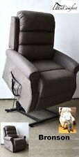 BRONSON LIFT CHAIR RECLINER - ELECTRIC MOTOR - GREY FABRIC