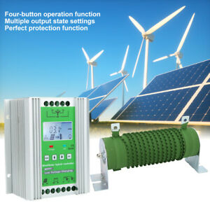 MPPT LCD Display Wind Solar  Booster Controller with Unloading Resistance