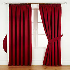 READY MADE BLACKOUT CURTAINS PENCIL PLEAT TAPE TOP LIVING ROOM BEDROOM CHEAP P&P
