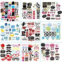 18/20/26/27/29/30/31/58/77pcs Birthday Wedding Hen Party Photo Booth Props Decor