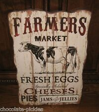 Dairy COW Farmers Market Wood Wall SIGN*Primitive/French Country Farmhouse Decor