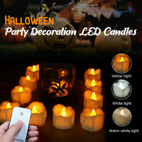 Flameless Candles Flickering LED Tea Light Lamp Decor Set of 12 w/Remote